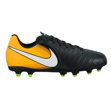 Nike JR.Tiempo Rio IV (FG) Firm-Ground Scarpe da calcio - Nero / Laser arancione
