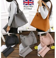 2pcs Large Women Ladies Leather Tote Shoulder Handbag Shopper Bag Purse Phone