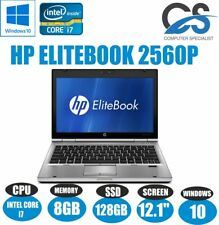 "HP ELITEBOOK 2560P 12.1 "" Laptop Intel Core i7 2620M 8GB RAM 128 SSD W10 WEBCAM"