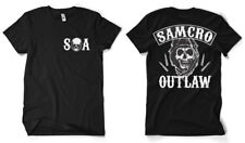Officially Licensed Sons of Anarchy- SAMCRO Outlaw Men's T-Shirt S-XXL Sizes