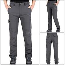 Men Outdoor Hiking Pants Sport Trousers Quick Dry Tactical Softshell Pants I2C7