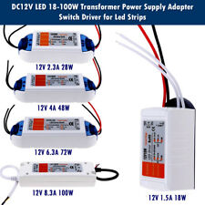 Compact LED Driver Power Supply Transformer 240V DC12V 18W - 100W