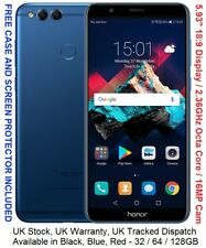 "Huawei Honor 7X 128GB 5.93"" 2160*1080 Display Kirin 659 Octa Core 4GB RAM 16MP"