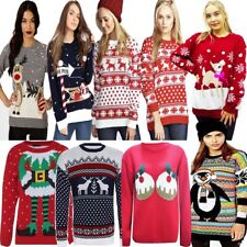 Mens Womens Ladies Unisex Christmas Xmas Jumper Novelty Knitted Retro Sweater