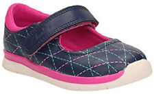 Clarks ATH MEGAN Girls Blue Pink Leather Shoes - Size 5G NEW BOXED