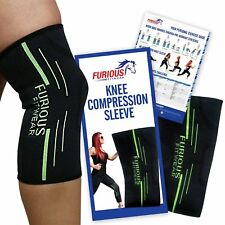 Furious Fitwear Knee Compression Sleeve Running, Basketball & Weight Lifting