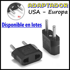 Adaptador Conversor de Corriente pared Enchufe USA US Americano Salida Europeo