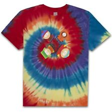 HUF X SOUTH TRIPPY TIE-DYE  TEE SHIRT RAINBOW