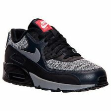 MENS NIKE AIR MAX 90 ESSENTIAL BLACK / GREY / RED  RUNNING SHOES MEN'S SIZE 15