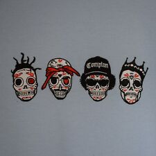 Actual Fact RIP Day of the Dead Rappers ODB,Tupac,Easy E,BIG Heather Grey Hoodie