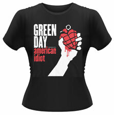 Green Day 'American Idiot' womens fitted T-SHIRT - NUOVO E ORIGINALE
