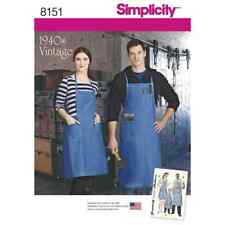 Simplicity Sewing Pattern 8151 Vintage Aprons for Boys, Girls, Misses and Men