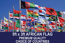 AFRICAN COUNTRY FLAG 5FTx3FT QUALITY POLYESTER FLAGS CHOSE YOUR DESIGN