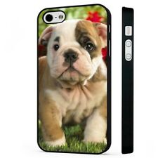 Adorable British Bulldog Puppy BLACK PHONE CASE COVER fits iPHONE