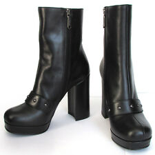 PINKO stivaletti in pelle nera black leather ankle boots Made in Italy €324