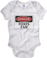 Body neonato WC0296 DANGER LEICESTER CITY FOXES FAN FOOTBALL FUNNY FAKE SAFETY S