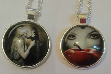 SILVER ONCE UPON A TIME GLASS PENDANT EMMA SWAN CAPTAIN HOOK EVIL QUEEN REGINA