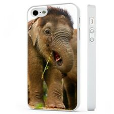 Adorable Elephant Wildlife Nature WHITE PHONE CASE COVER fits iPHONE