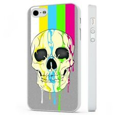 Cool Candy Skull Colourful WHITE PHONE CASE COVER fits iPHONE