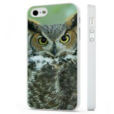 Great Horned Barn Owl WHITE PHONE CASE COVER fits iPHONE