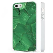 Green Marble Stone Jade Effect WHITE PHONE CASE COVER fits iPHONE