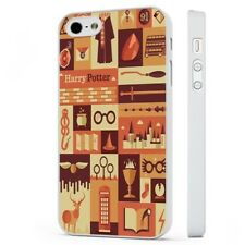 Harry Potter Collage Pattern WHITE PHONE CASE COVER fits iPHONE