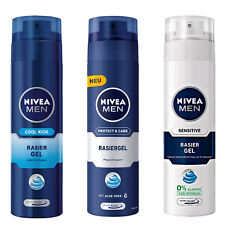 (19,95 €/ L) 200 ml Nivea Uomo Gel per rasatura protect & care / SENSIBILE/Cool