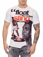 Muhammad Ali T-Shirt White King Felpa Schwergewicht CHAMPION Mainstream MODA