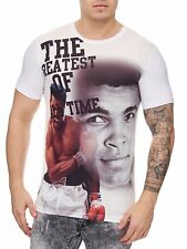 Muhammad Ali T-Shirt White Felpa SCATOLA Schwergewicht CHAMPION Mainstream MODA