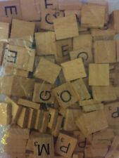 Wooden Tiles Scrabble Letters Craft Alphabet Board Game Fun Toy Gift Single A-Z