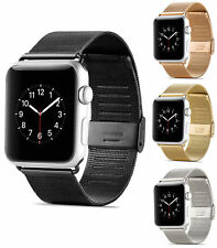 Milanese Stainless Steel Buckle Bracelet Strap For Apple Watch Band Series 1 2 3
