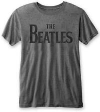 THE BEATLES' Drop T Logo 'Burnout T-shirt - NUOVO E ORIGINALE