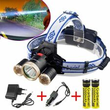 35000LM Headlamp 4 Modi XML 3x T6 LED Stirnlampe Kopflampe 18650 Flashlight
