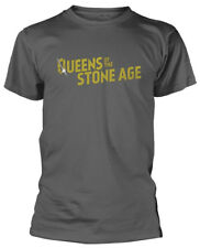 QUEENS OF THE STONE AGE 'Gold Logo' T-SHIRT - Nuevo y Oficial