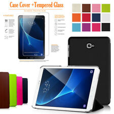 "Samsung Galaxy Tablet Stand Case Cover For Tab A 10.1"" Inch T580 T585 + Tempered"