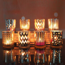 Pretty 6.8cm Glass Tealight Candle Holder~ WEDDING BIRTHDAY Votive Candle Stand