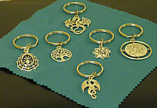 GOTHIC KEYRING SELECTION - 6  STYLES - Spiders, Dragon, Wyrm, Rose, Tree of Life