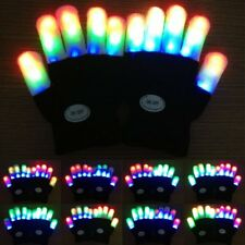 LED Finger Flashing Gloves Light Up Christmas Gloves Kids Xmas Party Prop Gifts