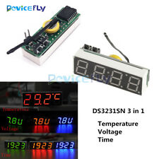 3 in 1 LED DS3231SN Digital Clock Temperature Voltage Module DIY Electronic