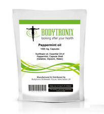Peppermint Oil 100 mg Capsules Bodytronix UK Made for Headache, Stomach, Nausea