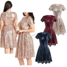 Women Sequined A-line Short Dress Cocktail Wedding Party Gown Bridesmaid Dresses