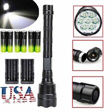 Tactical 60000LM LED Flashlight Torch 5-Mode 5xCREE XML T6 Super Bright Lig