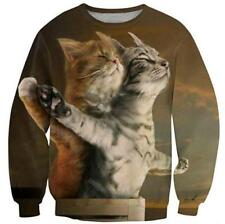 Womens/Mens Movies Funny Cat Couples 3D Print Casual Sweatshirt Hoodies Pullover