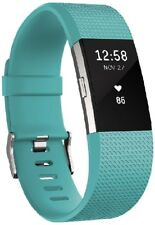 Fitbit Charge 2 Heart Rate + Fitness Wrist Band - Blue Small 5.5 - 6.7 Inches