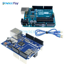 Original Arduino Uno R3 ATmega328 MEGA328P Ethernet Shield W5100 Official Board
