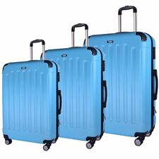 20/24/28'' Turquoise ABS valise à roulette voyage chariot sac bagages à main