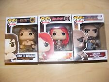 Funko Pop vinyl figures fantasy RED SONJA & ORGRIM (Warcraft WoW) - NEW