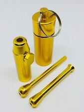SNUFF BULLET METAL with 2X SNUFF SNORTER TUBES and PILL BOX CONTAINER Snuff KIT