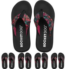 DI MODA Rocket Dog Womens Spotlight Flip Flops Funkadelic Pink UK 3 Euro 36
