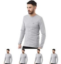 DI MODA Duck and Cover Mens Stock Long Sleeve T-Shirt Light Grey Marl Small Che
